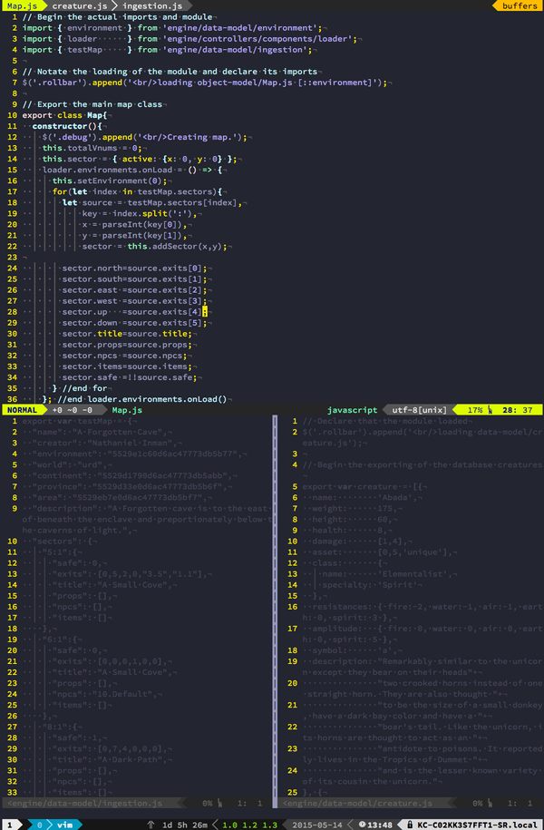 tmux + vim + iterm2 + powerline